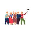 seniors group old people elderly friends vector image