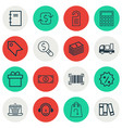 set of 16 commerce icons includes delivery vector image vector image