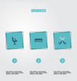 set of shop icons flat style symbols with scissors vector image vector image