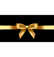 shiny gold bow vector image