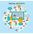 Social Network Activity Design vector image vector image