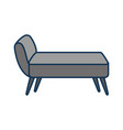 sofa divan or couch elegant furniture icon style vector image vector image