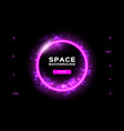 space background futuristic planet dynamic flow vector image vector image