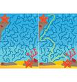Starfish maze vector image vector image