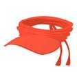 summer cap icon cartoon style vector image vector image