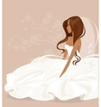 The bride in a white dress vector image vector image