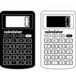 the financial calculator vector image vector image