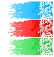 Three floral banners vector image vector image
