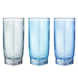Three opaque glass for juice vector image vector image