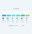 timeline elements for presentations vector image vector image