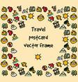 travel journey tour trip voyage sea rest postcard vector image