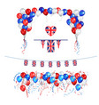 uk union jack flag balloons vector image