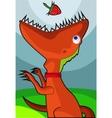 veggie dinosaur vector image