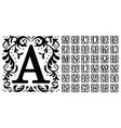 vintage monogram letters decorative ornamental vector image vector image