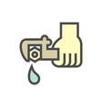 water leak icon vector image