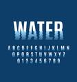 waves font ripple water reflexes english alphabet