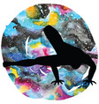 women silhouette dragonfly yoga pose vector image vector image