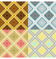 Set of four seamless african textures vector image