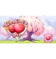 Banner for Valentines Day vector image