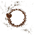 background coffee beans vector image vector image