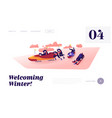 bobsleigh and skeleton winter sport competition vector image vector image