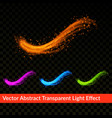 bright colorful transparent realistic splash vector image vector image