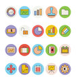 Business and Office Colored Icons 1 vector image