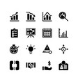 business icon set solid or glyph style icon vector image