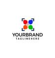 camera photography shoot logo design concept vector image vector image