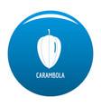 carambola icon blue vector image vector image