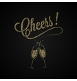 Cheers Vintage Gold Champagne Background vector image vector image