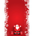 christmas poster design with santa claus vector image vector image