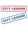 City Legend Rubber Stamps vector image vector image
