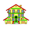 colorful little house sale abstraction vector image vector image