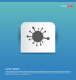 connection of cells molecule icon - blue sticker vector image