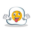 crazy fried egg character cartoon vector image vector image