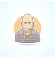 Criminal gangster bouncer icon Avatar and vector image