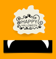 Cute note papers Happy Halloween design background vector image