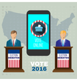 Digital usa election with vote online vector image vector image