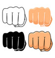 fist punch icons set vector image vector image