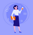 flat style modern web businesswoman infographic vector image