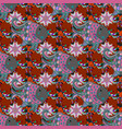 floral seamless pattern with watercolor flowers vector image
