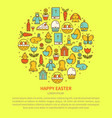 flyer symbols of easter vector image