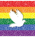 Gay pride flag with a seamless tiled pattern in it vector image vector image