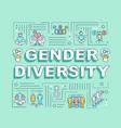 gender diversity word concepts banner vector image