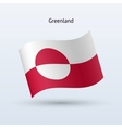 Greenland flag waving form vector image vector image