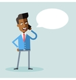 Handsome african american manager talking on phone vector image vector image