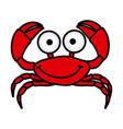 happy crab cartoon icon vector image vector image