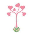 heart tree love vector image vector image