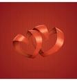 Hearts Ribbon vector image vector image